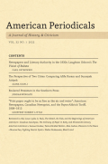 American Periodicals: A Journal of History & Criticism