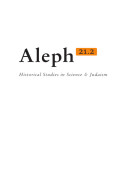 Aleph: Historical Studies in Science and Judaism cover