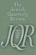 Jewish Quarterly Review cover