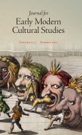 Journal for Early Modern Cultural Studies cover