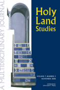 Holy Land Studies: A Multidisciplinary Journal