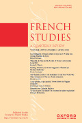French Studies: A Quarterly Review