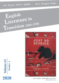 English Literature in Transition, 1880-1920