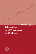Education and Treatment of Children cover