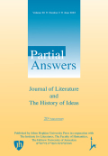 Partial Answers: Journal of Literature and the History of Ideas