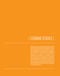 Serbian Studies: Journal of the North American Society for Serbian Studies