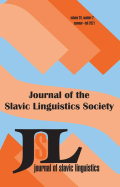 Journal of Slavic Linguistics cover
