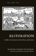Restoration: Studies in English Literary Culture, 1660-1700