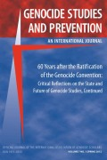 Genocide Studies and Prevention