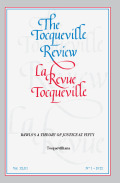The Tocqueville Review/La revue Tocqueville