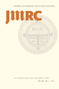 The Journal of Medieval Religious Cultures cover