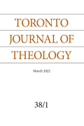 Toronto Journal of Theology cover