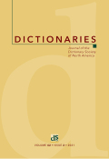Dictionaries: Journal of the Dictionary Society of North America