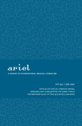 ariel: A Review of International English Literature cover