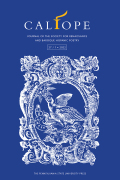Calíope: Journal of the Society for Renaissance and Baroque Hispanic Poetry