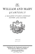 The William and Mary Quarterly cover