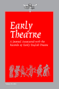 Early Theatre: A Journal associated with the Records of Early English Drama