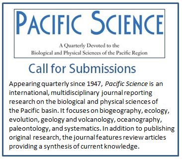 Pacific Science call for papers