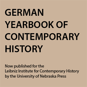 German Yearbook of Contemporary History now published by University of Nebraska Press