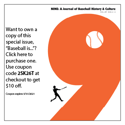 "Want to own a copy of this special issue ""Baseball is...""? Click here to purchase. Use coupon code 2SK26T at checkout for $10 off. Coupon expires 5/31/2021"